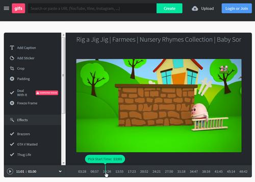 Gifs.com сервисы помогут создать анимацию с видео на YouTube.