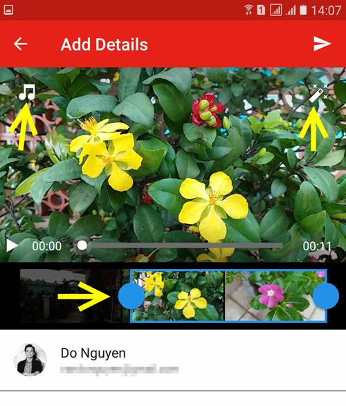 Базовое редактирование видео в приложении YouTube для мобильных устройств.