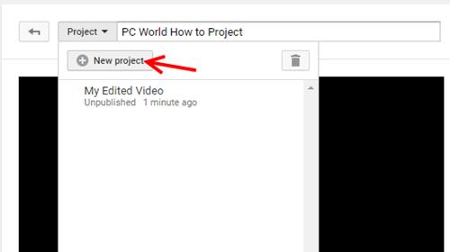 Создание нового проекта: редактор на YouTube