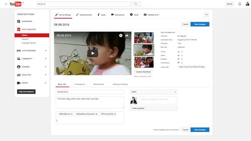 Интерфейс, добавляем новые функции для обмена видео на YouTube.