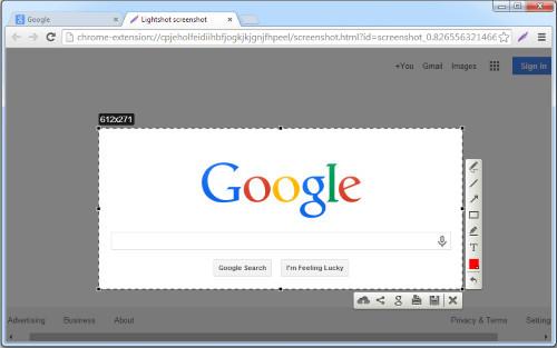 Скриншот с помощью программы Lightshot