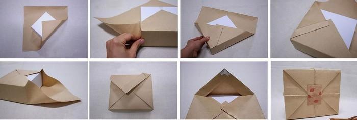 Красиво упаковать подарок в бумагу 5