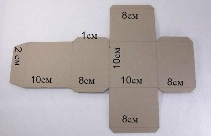Как сделать своими руками коробку для подарка из картона