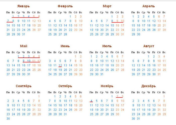 Календарь праздников в 2019 году, майские праздники
